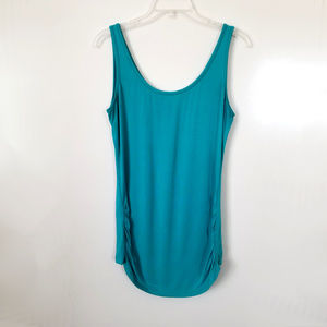 DKNYC Teal Ruched Tank Top Size M